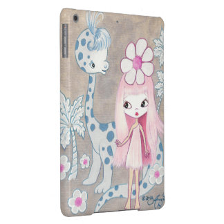 Dinosaur with Cavegirl iPad Air Covers