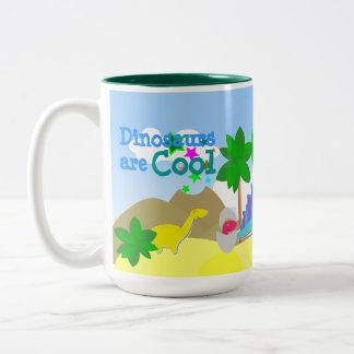 Dinosaurs Are Cool Name Mug