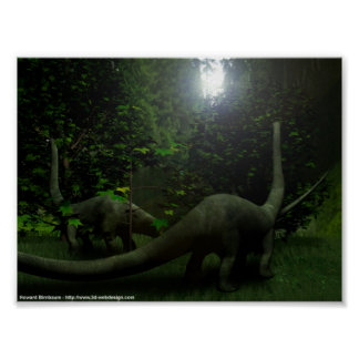 Dinosaurs at lunch poster