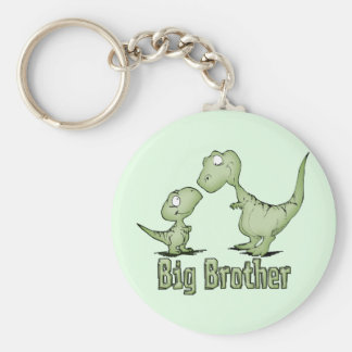 Dinosaurs Big Brother Basic Round Button Key Ring