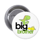 dinosaurs big brother pinback button