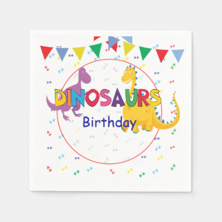 Dinosaurs Birthday party napkins Disposable Napkin
