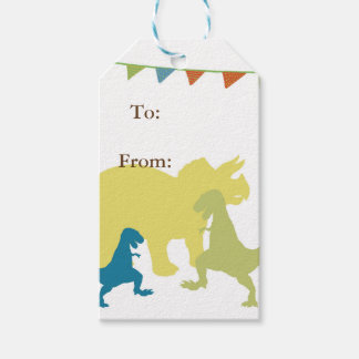 Dinosaurs Boy party Flags Custom Gift Tags