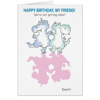 DINOSAURS DANCING CARD