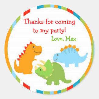 Dinosaurs Dino Favor Stickers Labels Seals Kids