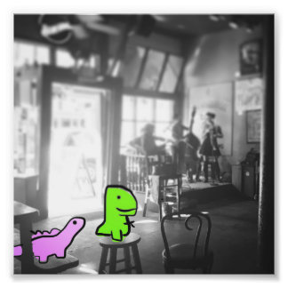Dinosaurs in New Orleans Photo Print