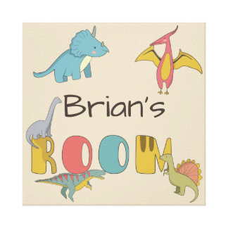 Dinosaurs Kid's Name Personalized Canvas Print
