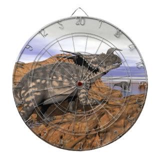 Dinosaurs landscape - 3D render Dartboard