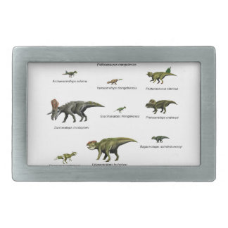 Dinosaurs names belt buckle