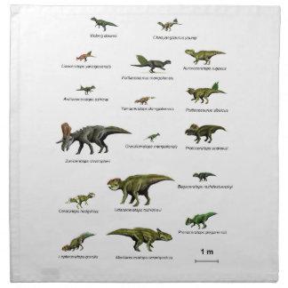 Dinosaurs names napkin