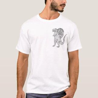 Dinosaurs Old But Still Kickin - Back Print T-Shirt