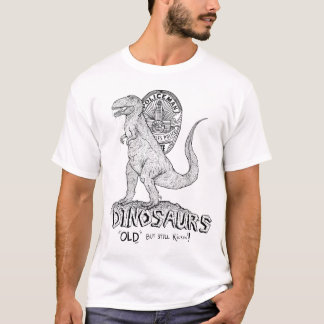 Dinosaurs old but still kickin - front print T-Shirt