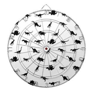 Dinosaurs pattern dartboard