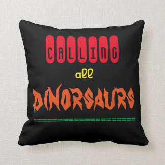 'Dinosaurs' Polyester Throw Pillow
