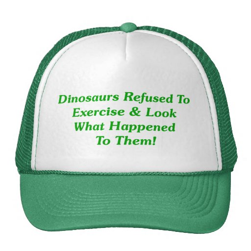 Dinosaurs Refused To Exercise Mesh Hat