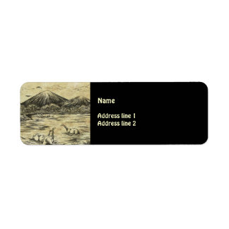 Dinosaurs Return Address Label