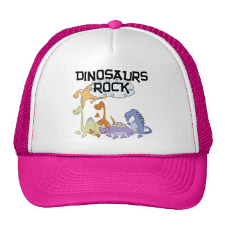 Dinosaurs Rock Tshirts and Gifts Cap