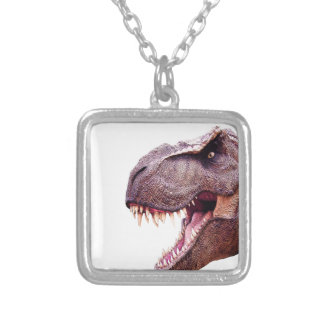 Dinosaurs T-Rex Silver Plated Necklace