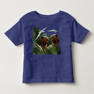 Dinosaurs T-Shirt with T-Rex Battle for Kids