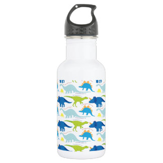 Dinosuar Designs Blue and Green Pattern Dino 532 Ml Water Bottle