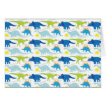 Dinosuar Designs Blue and Green Pattern Dino Gifts Greeting Card