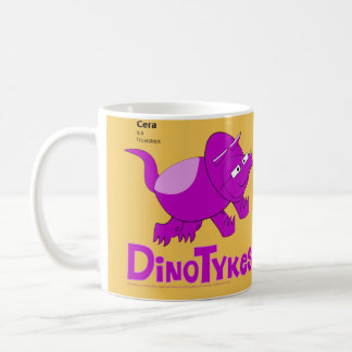 Dinotykes Cera is a Triceratops Yellow Backdrop Coffee Mug