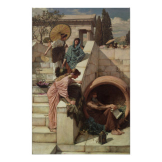 Diogenes by John William Waterhouse Poster