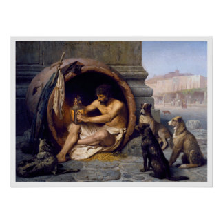 Diogenes Dogs Poster Print by Gérôme