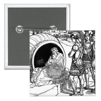Diogenes of Sinope 15 Cm Square Badge