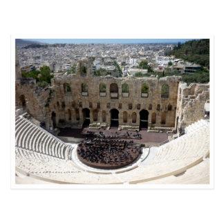 dionysus acropolis border postcard