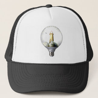 Diorama Light bulb Lighthouse Trucker Hat