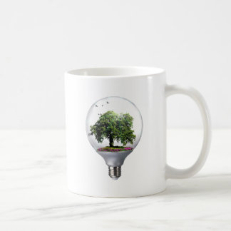 Diorama Light bulb Tree Coffee Mug