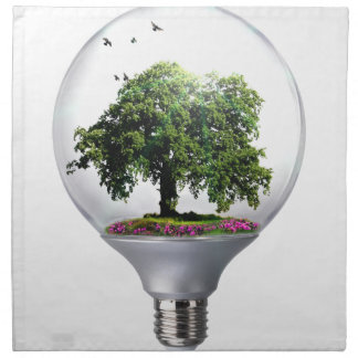 Diorama Light bulb Tree Napkin