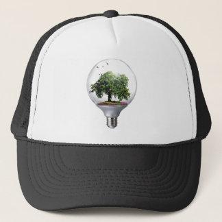 Diorama Light bulb Tree Trucker Hat