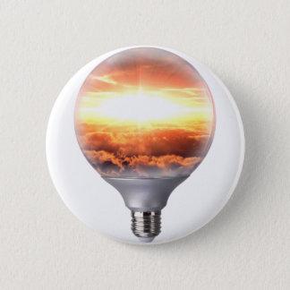 Diorama Sunrise Light Bulb 6 Cm Round Badge