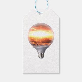 Diorama Sunrise Light Bulb Gift Tags