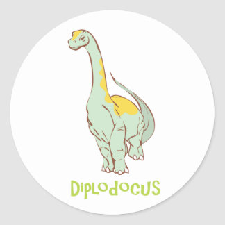 diplodocus classic round sticker