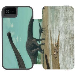 Diplodocus dinosaurs herd - 3D render Incipio Watson™ iPhone 5 Wallet Case
