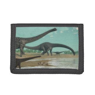 Diplodocus dinosaurs herd - 3D render Trifold Wallet