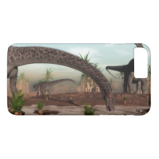Diplodocus dinosaurs herd going to drink iPhone 8 plus/7 plus case