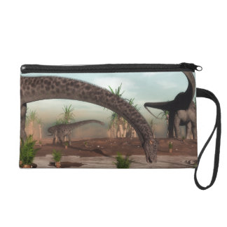Diplodocus dinosaurs herd going to drink wristlet