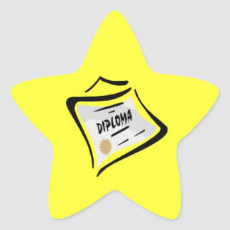 Diploma 3 star sticker