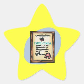 Diploma 4 star sticker