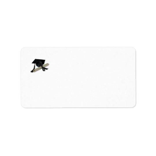Diploma and Graduation Cap ( Mortar Board ) Address Label