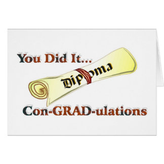 Diploma Congratulations Card