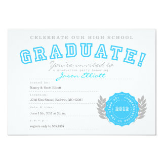 Diploma Graduation Party Invitation