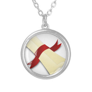 Diploma Silver Plated Necklace