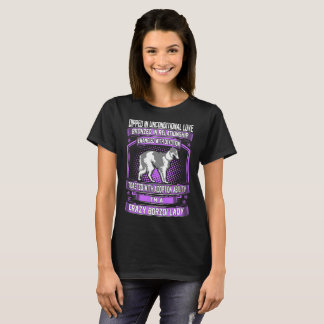 Dipped In Unconditional Love Crazy Borzoi Dog Lady T-Shirt