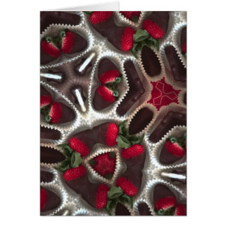 Dipped strawberries card
