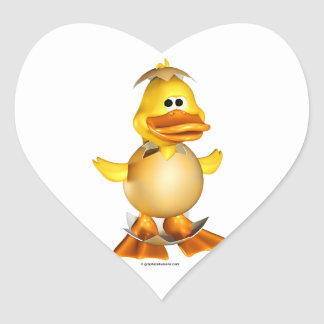 Dippy the Duckling Heart-Shaped Stickers